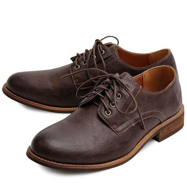 オックスフォードシューズ メンズ バブーシュ カジュアルシューズ レースアップ ローカット プレーントゥ メンズファッション メンズ靴 靴 短靴 紳士靴|topism|25