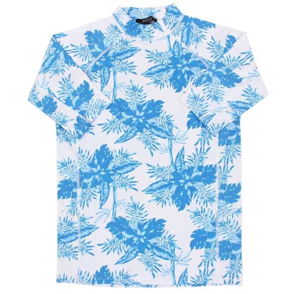 メンズラッシュガード メンズ水着 UVカット 9分袖 半袖 長袖 Tシャツ 4WAYストレッチ素材 無地 カモフラ迷彩柄 オルテガ柄 ボタニカル柄 吸水速乾 水陸両用 topism 32