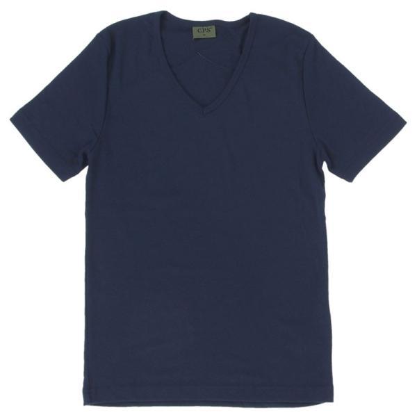Tシャツ メンズ 半袖 7分袖 無地 カットソー Vネック トップス インナー ストレッチ フライス 七分袖 メンズファッション 脇汗対策シャツ|topism|31