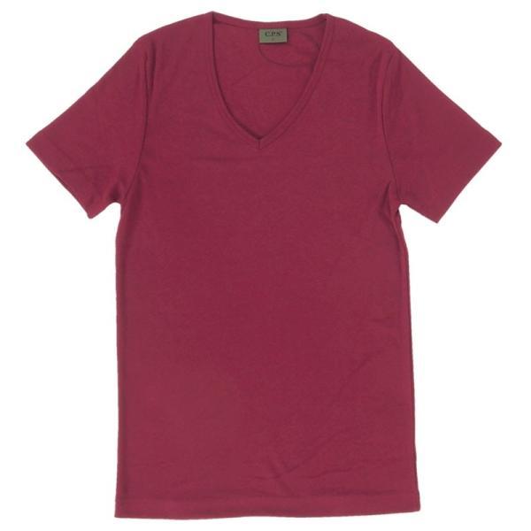 Tシャツ メンズ 半袖 7分袖 無地 カットソー Vネック トップス インナー ストレッチ フライス 七分袖 メンズファッション|topism|23