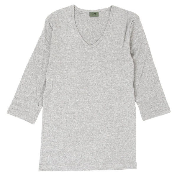 Tシャツ メンズ 半袖 7分袖 無地 カットソー Vネック トップス インナー ストレッチ フライス 七分袖 メンズファッション|topism|36