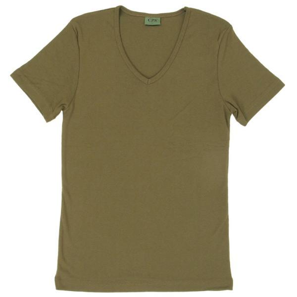 Tシャツ メンズ 半袖 7分袖 無地 カットソー Vネック トップス インナー ストレッチ フライス 七分袖 メンズファッション 脇汗対策シャツ|topism|26
