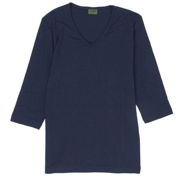 Tシャツ メンズ 半袖 7分袖 無地 カットソー Vネック トップス インナー ストレッチ フライス 七分袖 メンズファッション 脇汗対策シャツ|topism|41