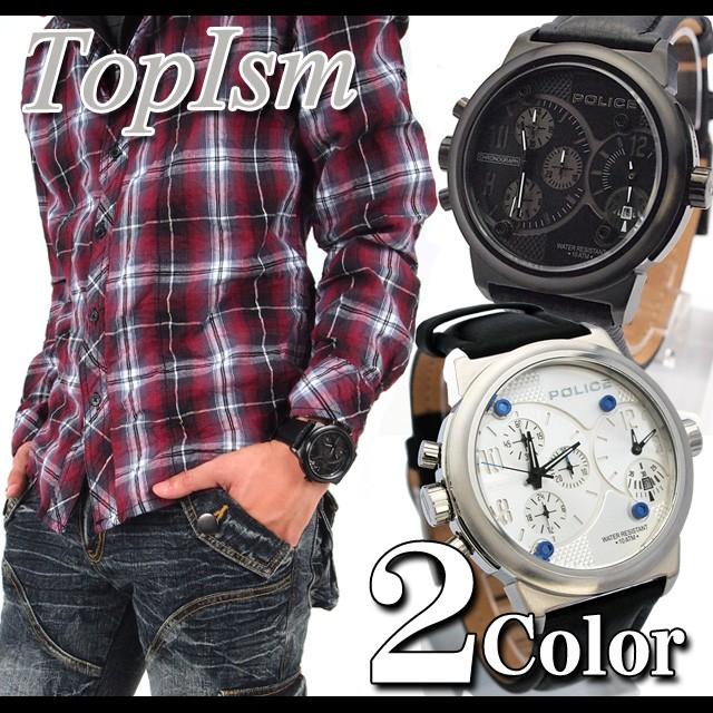 腕時計,メンズ腕時計,時計,ポリス,POLICE,クオーツ,ステンレス,防水,10気圧防水,バイパー,VIPER,デュアルタイム,カレンダー,12739JSB-02,12739JS-04