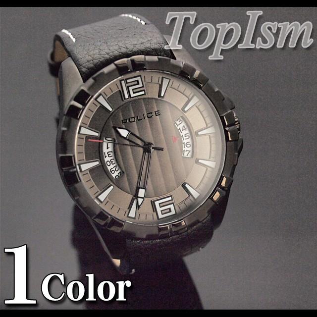 watch,腕時計,時計,メンズ,メンズカジュアル,アクセサリー,アクセ,POLICE,防水,クオーツ,ポリス,レザーベルト,12889JSB-61