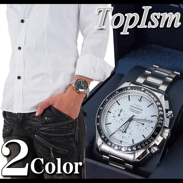 watch,時計,腕時計,メンズ,小物,アクセサリー,アクセ,革,皮,レザー,ステンレス,石,通販,メンズカジュアル,激安,クロノス,T4146