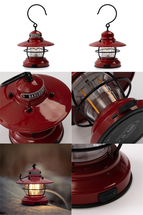 ベアボーンズリビング Barebones Living ミニエジソンランタン LED レッド 20230009004000