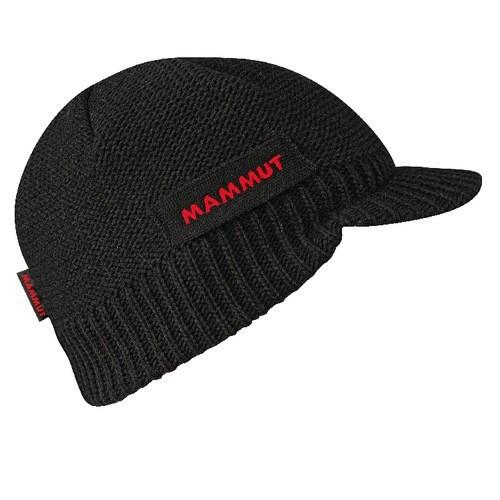 マムート ニット帽子 MAMMUT バイザービーニー ブラック 1090-05680-0001