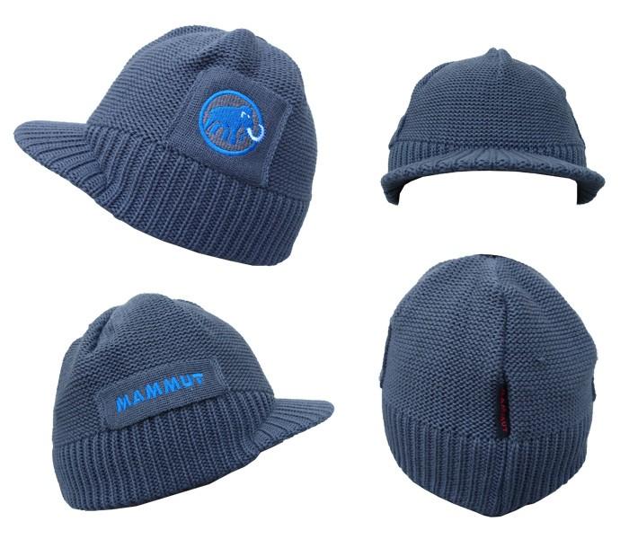 マムート ニット帽子 MAMMUT バイザービーニー Visor Beanie チタニウム 1090-05680-0051