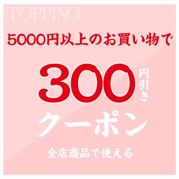 5000円以上のお買い物で300円引きクーポン