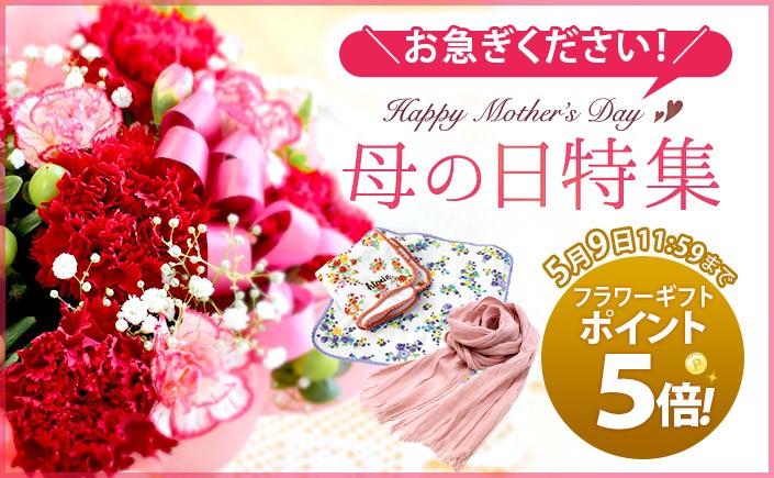 【今だけお花ギフトP5倍】母の日ギフト特集
