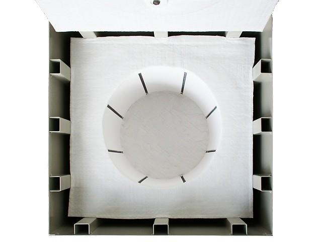 小型電気窯 K-3030C 8ステップマイコン付 炉内のヒーター線などの画像