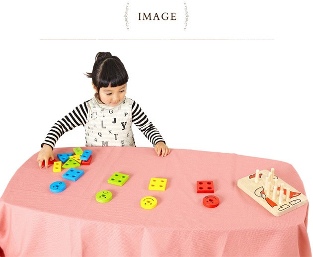 Voila ボイラ カラフルクラウン  木製玩具 木のおもちゃ パズル 組み合わせ 知育 エデュテ