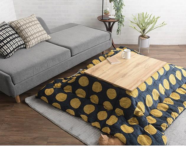 CARTES 長方形こたつテーブル 幅75cm  こたつ コタツ 炬燵 コタツテーブル ローテーブル センターテーブル おしゃれ 木目 長方形 一人暮らし