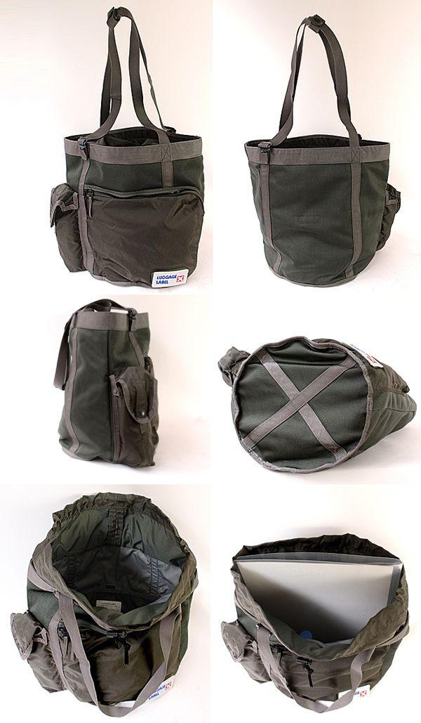 ラゲッジレーベル カーゴ トートバッグは内部も充実した作り