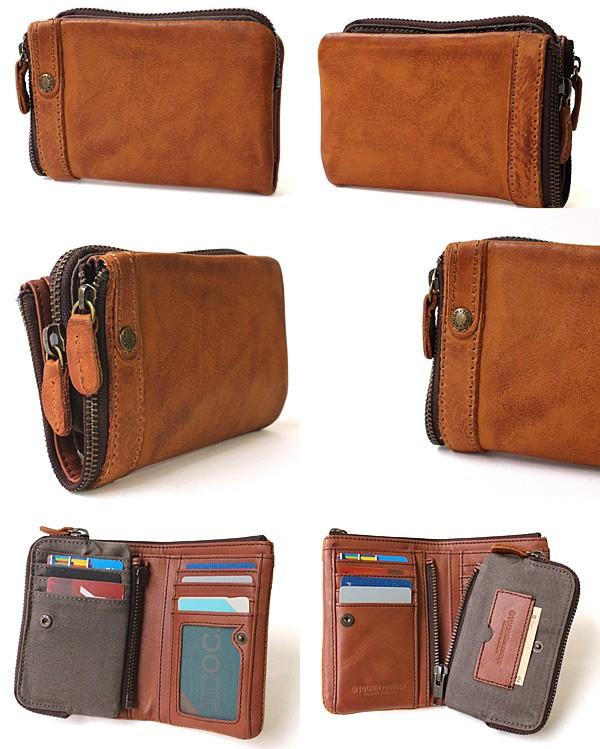 タフの二つ折財布はポケットも充実した作り