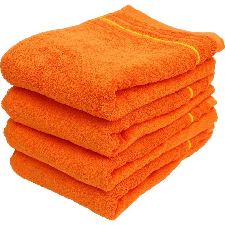 バスタオル 同色4枚セット イロイロットスマイルパーティーカラー 約60×120cm まとめ買い towelmall 11