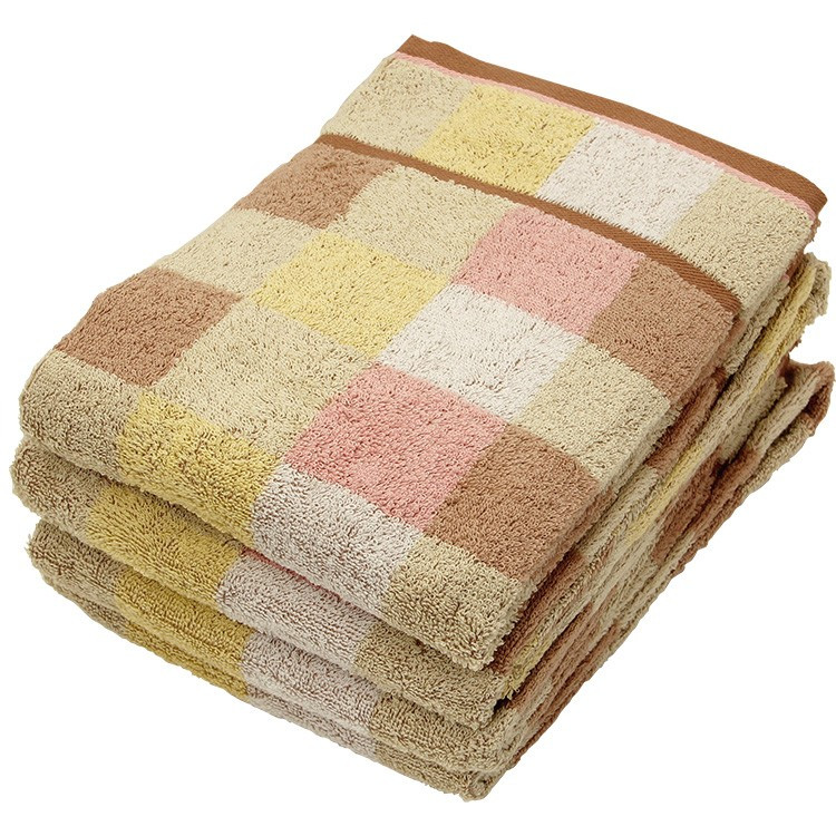 バスタオル 同色4枚セット オーガニックルフランチェック 約60×120cm オーガニックコットン まとめ買い|towelmall|10