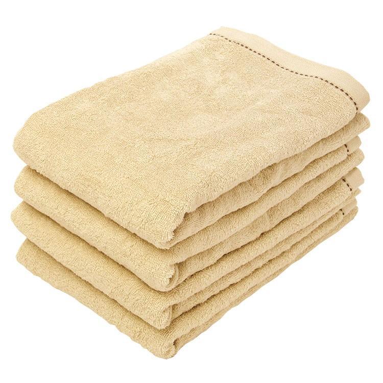 バスタオル 同色4枚セット オーガニックステッチ 約60×120cm オーガニックコットン まとめ買い towelmall 13