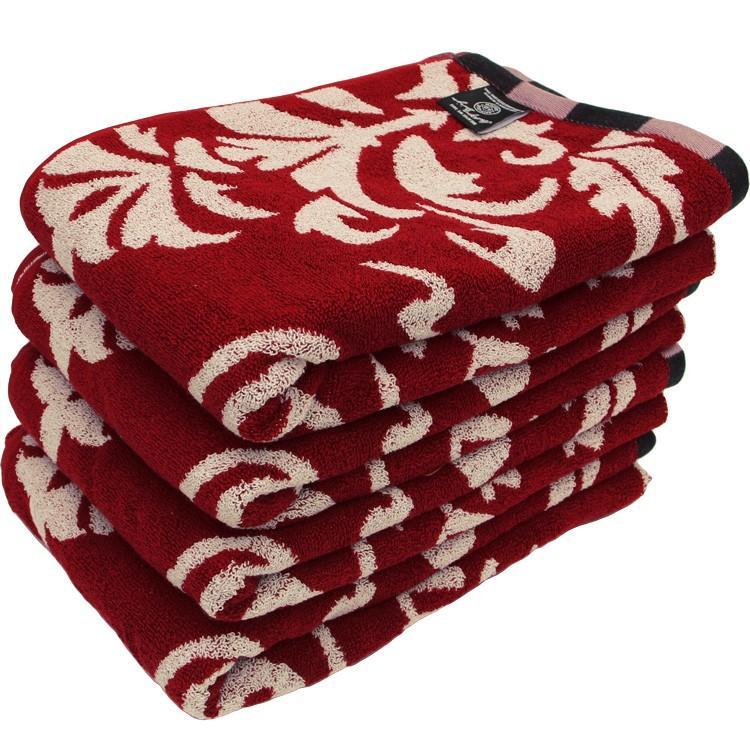 バスタオル 同色4枚セット アンティークデザインロゴ 約60×120cm まとめ買い towelmall 06