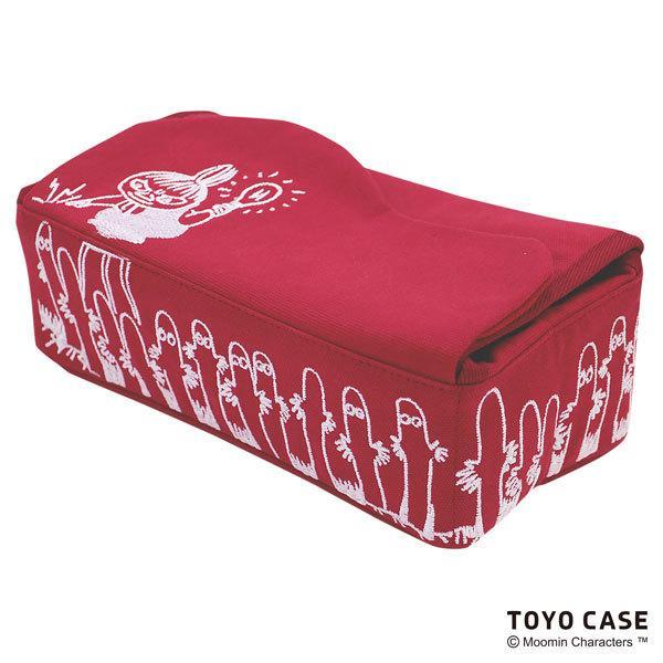 ムーミンシリーズ ティッシュケース リトルミイ ニョロニョロ アイボリー レッド 北欧 ムーミンイラスト コットン 刺繍 オシャレ|toyocase-store|09
