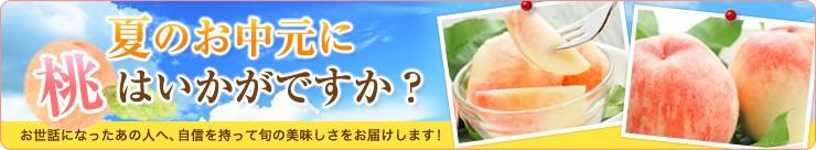 夏のお中元に桃はいかがですか?