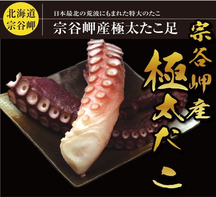 日本最北、北海道宗谷岬で獲れたタコ足1本分。子供の腕より太い?!