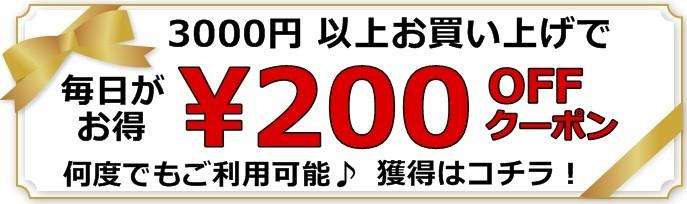 【トレジャーハウス!Yahoo!ショップ】200円OFF!クーポン【店内全品対象】