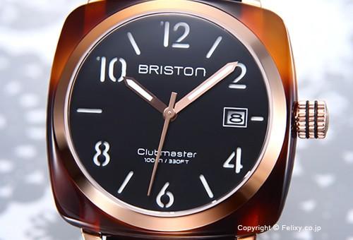 【BRISTON】ブリストン 腕時計 Clubmaster HMS (クラブマスター HMS) ブラック×ローズゴールド(トータス)×ブラック 13240.PRA.T.1.NB