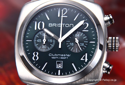 BRISTON ブリストン 腕時計 Clubmaster Classic Chronograph (クラブマスター クラシック クロノグラフ) ブリティッシュグリーン 15140.S.C.10.LCBR