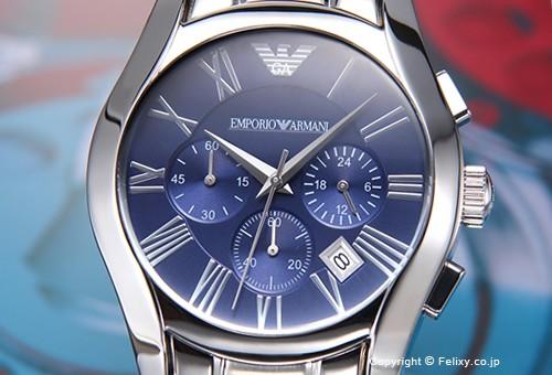 【EMPORIO ARMANI】エンポリオアルマーニ Classic Chronograph Collection (クラシック クロノグラフ コレクション) ブルー AR1635
