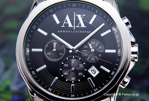 【Armani Exchange】アルマーニ エクスチェンジ 腕時計 Outer Banks Chronograph (アウターバンクス クロノグラフ) ブラック AX2084