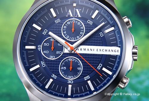 【Armani Exchange】アルマーニ エクスチェンジ 腕時計 Hampton Chronograph (ハンプトン クロノグラフ) ネイビーブルー(オレンジポイント) AX2155