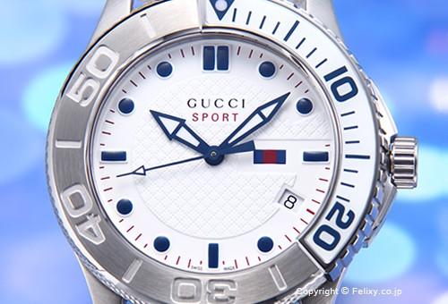 quality design 7f6d0 da412 グッチ GUCCI 腕時計 メンズ YA126239 G-Timeless Collection スポーツ ホワイト