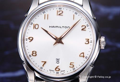 【HAMILTON】ハミルトン 腕時計 Jazzmaster Thinline (ジャズマスター シンライン) シルバー(ローズゴールド) H38511113