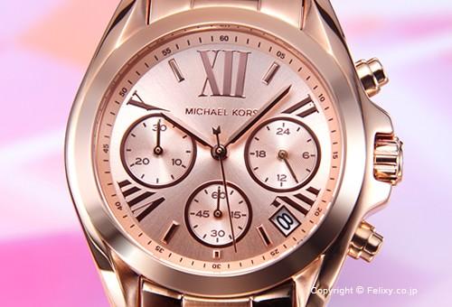 【MICHAEL KORS】マイケルコース 腕時計 Bradshaw Chronograph Mini (ブラッドショー クロノグラフ ミニ) ローズゴールド MK5799