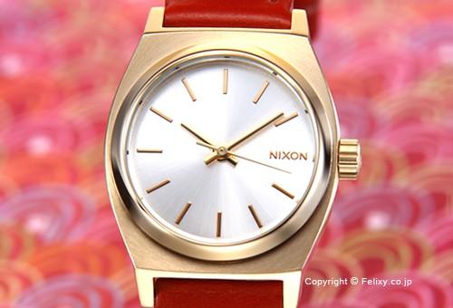 【NIXON】ニクソン 腕時計 Small Time Teller Leather(スモール タイムテラー レザー) Light Gold/Saddle (ライトゴールド/サドル) レディス A5091976
