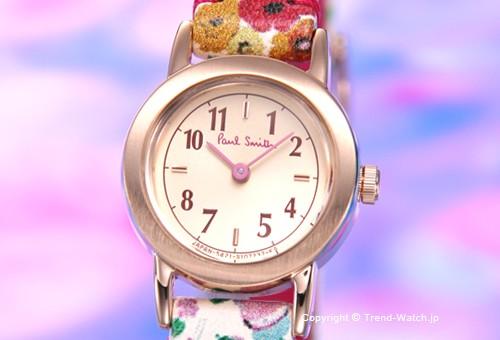 【PAUL SMITH】ポールスミス 腕時計 Little Circle (リトル サークル) GP シャンパンゴールド/フラワーレザーストラップ レディス PWJ42-6021