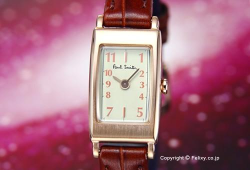 【PAUL SMITH】ポールスミス 腕時計 Little Brick (リトル ブリック) ミントグリーン/ダークブラウンレザーストラップ レディス BB2-062-92