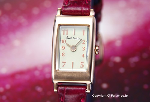 【PAUL SMITH】ポールスミス 腕時計 Little Brick (リトル ブリック) ミントグリーン/グレープレザーストラップ レディス BB2-062-94
