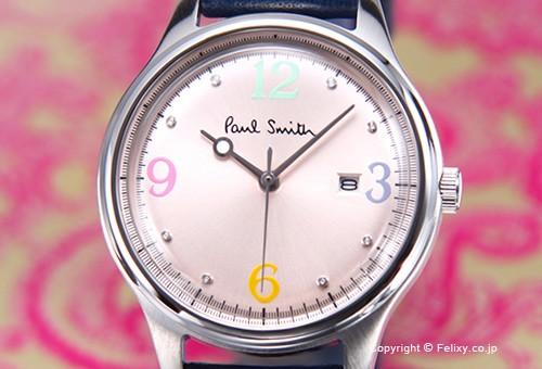 【PAUL SMITH】ポールスミス 腕時計 The City Mini (シティ クラシック ミニ) ライトピンク/ネイビーレザーストラップ BV3-111-90