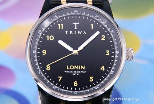 【TRIWA】トリワ 腕時計 Midnight Lomin (ミッドナイト ロミン) リボンベルトバージョン LOAC102
