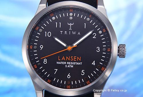 【TRIWA】トリワ 腕時計 Walter Lansen (ウォルター ランセン) ブラックレザー LAST109-MO010112