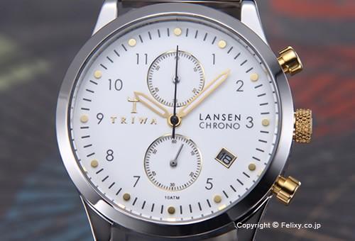 【TRIWA】トリワ 腕時計 Ivory Lansen Chrono (アイボリー ランセン クロノ) スティールブレス LCST106-BR021212