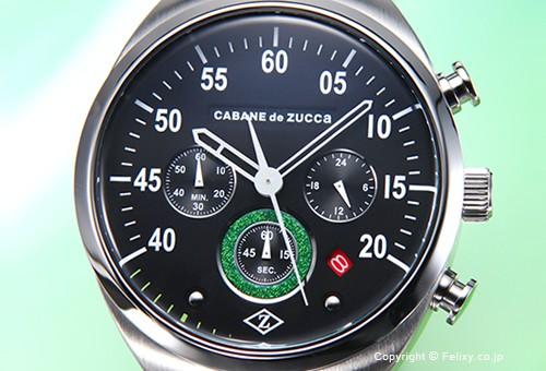 【CABANE de ZUCCa】カバン・ド・ズッカ 腕時計 Bike-Taxi (バイクタクシー) ブラック(グリーンポイント) AJGT007
