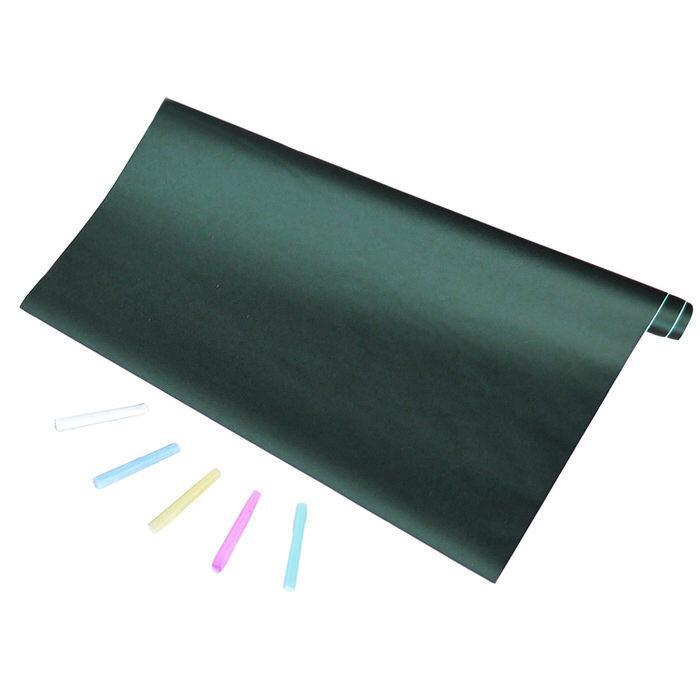ブラックボードシート 壁 黒板 張って 便利 シートタイプ 2m×45cm 5本のチョーク付き ウォールステッカー お絵かき 子供部屋 会議室 看板|trendst|23