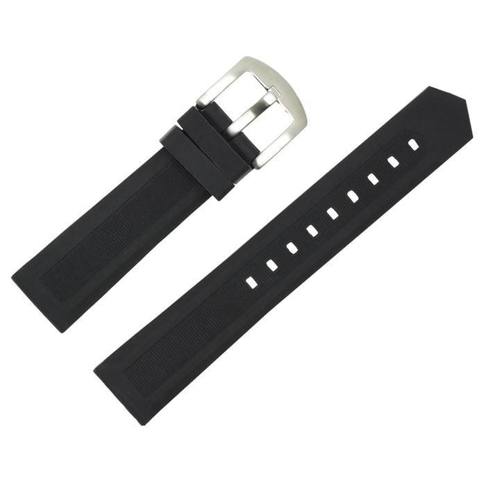 時計ベルト ラバ− シリコン 黒 ブラック 革 レザー 20mm 22mm 24mm 腕時計ベルト 替え 時計 腕時計 バンド ベルト 男性 かっこいい シンプル カジュアル 紳士|trendst|22