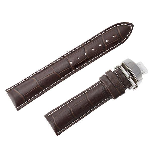 腕時計 ベルト 時計 替えベルト バンド 革ベルト empt プッシュロック Dバックル ブラック ブラウン 黒 茶 18mm 19mm 20mm 21mm 22mm trendst 22