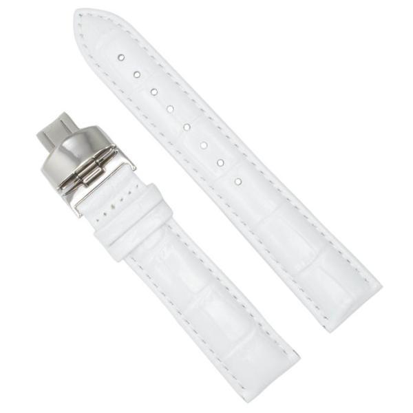 腕時計替えバンドCOLORS Dバックルタイプ ホワイト 22mm 替えベルト メンテナンス trendsttwo 19