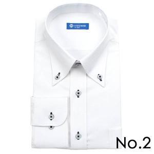 ストレッチシャツ メンズ ビジネス ノーアイロン 長袖 ストレッチ ワイシャツ Yシャツ 形態安定 形状記憶 ボタンダウン レギュラー|tresta|12